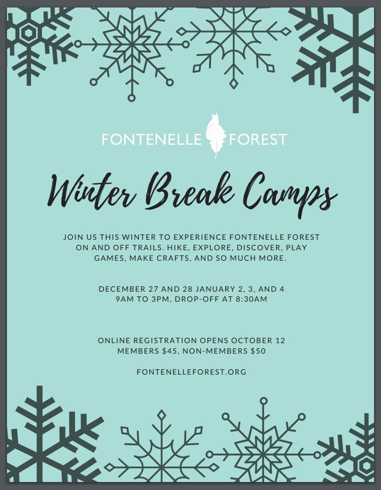 Image result for fontenelle forest winter break camps